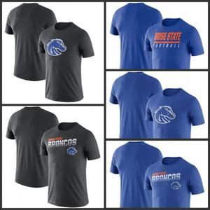 Boise State Broncos Sideline Legend Performans Tişörtler Baskılı Kısa Kollu O-Boyun Tee futbol kolej Takım Sporları tişörtleri