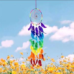 Rainbow Dreamcatcher Bohemia Cor Mágica Pingente Moda Celebração Do Casamento Dreamnet Opp Embalagem Novo Padrão Best Sellers 11lz J1
