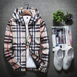 Giacca uomo Fashion Casual Giacca a vento a maniche lunghe Taglie M-5XL Mens Jackets Pocket Zipper Mens Hoodie Giacche cappotto a quadri