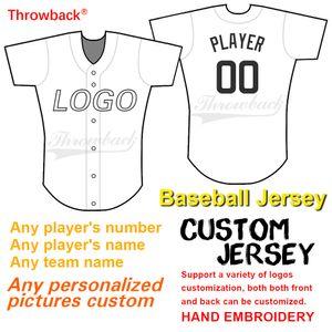 Base-ball personnalisé Jersey soutien personnalisé Conception graphique et rétro chandails personnalisation et équipes Nombre Nom Logo Broderie