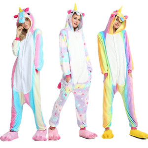 Manga Venta nuevo estilo de olor caliente unicornio Tenma unisex con capucha de las señoras de completa dormir pijamas Animal Onesize de vestuario