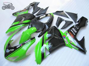 Creat suas peças carenagem para a Kawasaki Ninja ZX10R 2006 2007 preto verde alta qualidade carenagens chineses definir ZX 10R 06 07 ZX-RR ZX10R
