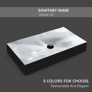 Salle de bains Art Designer de lavage Basin Bowl comptoir moderne Vase en céramique noir mat blanc avec vidange doux tuyau