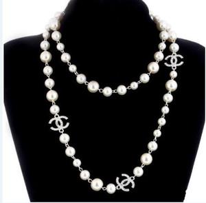 Agood высокое качество имитация жемчуга длинные ожерелья для женщин элегантный партия ювелирных изделий двойной слой ожерелье C2394 для лучшего подарка