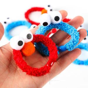 Vendita calda 2 colori bambini Sesame Street dei capelli delle ragazze del fumetto chiusura copricapo fascia per capelli bambola della peluche per il partito dei bambini accessori per capelli