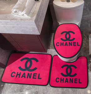 Fashion Branded Samt 3pcs Toilettensitzabdeckung Schlafzimmer Kristall Velvet Fußmatte Thick Anti-Rutsch-Badewanne WC-Sitzkissen