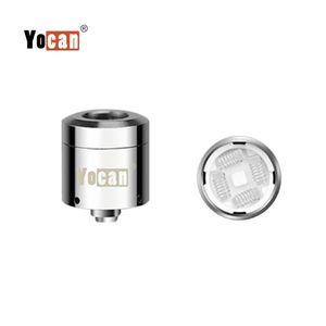 Authentische Yocan Loaded Coil Dual- und Quad-Quartz-Ersatzspulen mit magnetischem Basiswachs Vape für Yocan Loaded Starter Kit