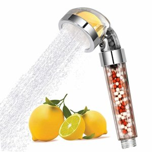 Turunçgiller Koku C Vitamini ile Yüksek Basınçlı Su Tasarrufu Duş Başlığı Filtre Wand Klor yumuşatır Sert Su Showerhead Y200321 kaldır