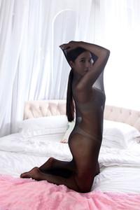 Tutto il corpo in nylon Calze Bodyhose Sleeping molto trasparente Borsa forma per due persone, sia Coppia Kit sexy Spandex SM Cosplay Sex Toys donne