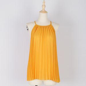 2020 nouveau jaune Hipster College doux Top Shirt Raffinez Straps étudiants goth zaraing vadiming sheining zanzeaing blouse Femme