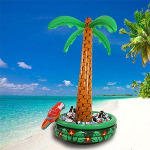코코넛 나무 아이스 버킷 풍선 파티 쿨러 샐러드 바 홈 가구 캠핑 PVC 그린 유니버설 친환경 47wf C1