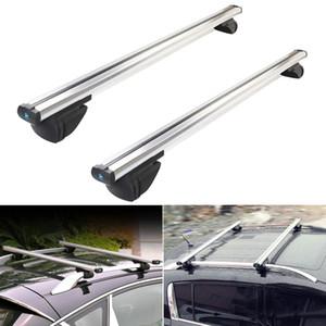 2PCS universale del tetto dell'automobile CROSS Rack Bar portabagagli di supporto con blocco antifurto per bicicletta Roof Racks Auto 120 centimetri 130 centimetri