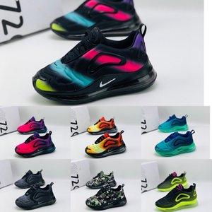 Детские Kanye West младенческой ClayMAX 720 малышей дети кроссовки статические GID chaussure de sport pour enfant мальчиков девочек повседневные кроссовки size28-35
