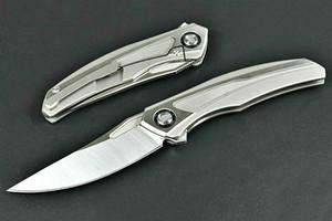 titânio Shirogorov Quantum S35VN rápida rolamento abertura caça faca de dobragem campismo sobrevivência faca exteriores ferramentas de caça 05429 Adker