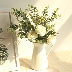 هدية رومانسية روز الاصطناعي الكوبية الزهور زهرة الحرير الزفاف الزفاف باقة باقة حفل زفاف الديكور دروبشيبينغ