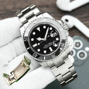 Glide Lock Green Ceramic Bezel New Mens Mechanical SS 2813 Automatic Movement Watch Designer Sports Fashion men Watches Wristwatches