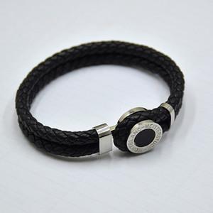 alta qualità MB braccialetti di cuoio tessuto antico mens nero dei braccialetti di fascino Toggle-stringe braccialetti Man luxurs Gioielli per regalo di festival