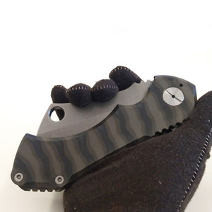 أفضل edc كامل الحجم راد الساطور الحلاقة جزار التكتيكي الطي سكين d2 بليد اللهب حرق أدوات التيتانيوم مقبض بقاء