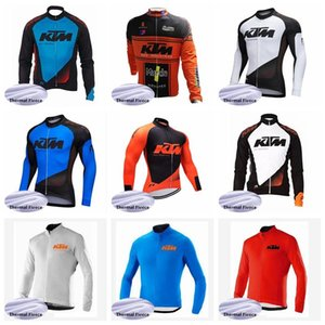 2019 KTM Men team Cycling Winter Thermal Fleece jersey mangas largas bicicleta MTB bicicleta transpirable Ropa Ciclismo K010921