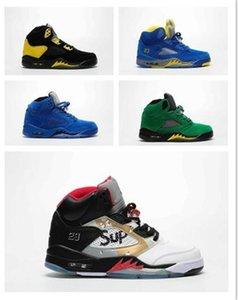5 Мужская Баскетбол обувь мужчин-5S Спорт Chaussures Мужские кроссовки конструктора Man S Athletic Спортивная обувь Man Кроссовки