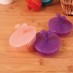 50pcs Head Massage Brush Soft Glue Shampoo Brush Bathroom Products Plastic Sanitary Comb Washing Hair Scalp Shower Body