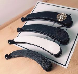 Misture o tamanho da marca de cobre clipe de banana preto e branco de duas cores hairpin garra clipe de uma palavra clipe perucas hairpiece moda jóias contador presente