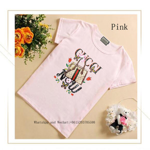 Girl Summer Wear Short Sleeve T cute T-shirt Middle-sized And Small Children Fashion Korean Edition Jacket Tide
