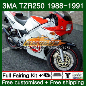 Body For YAMAHA TZR-250 3MA TZR250 1988 1989 1990 1991 121CL.25 TZR250RR TZR250 YPVS TZR 250 88 89 90 91 Fairing Lucky Strike
