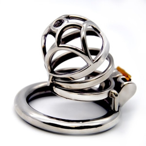 2019 Newest Design 3 Size 40 45 50mm Stainless Steel Male Chastity Device Cock Cage Stealth Lock Penis Ring for Men G7-1-256C
