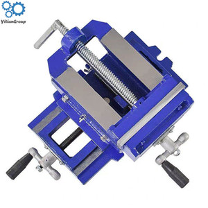 Deux voies Mouvement Banc Drill Plate-forme d'exploitation plat tenailles Banc de précision Vise Pince outil robuste en fonte ordinaire Vice