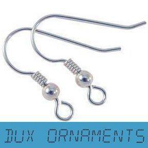 Wholesale / Retail Sterling Silber / Gold / Dull / Bronze Ohrring Finding Französisch-Ohr-Draht-Haken-Ohrringe Angelhaken mit Spule und Kugel