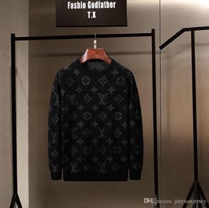 Hombres 2019Luxury diseño suéteres para hombre Pullover Marca suéter bordado serpiente géneros de punto de manga larga con capucha Diseño de invierno Ropa para Hombres