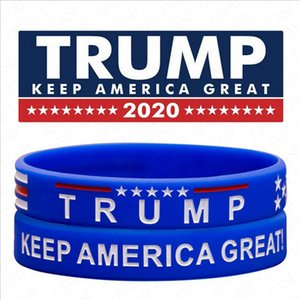 Donald Trump Silicone Bracelet Letters Keep America Great Wristband Sport Bangle Amercia General Election Trump Supporter Bracelets D61810