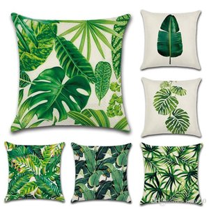 Rainforest Leaves Africa Tropical Plants Linen Pillow Case Comfortable Chair Sofa Cushion Cover Household pillowcase T3I0033