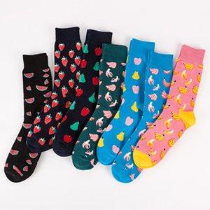 Herbst-Winter-New-Socken Baumwolle Bunte Bunte Früchte Socken Mode Rohr Tide Socken Großhandel für Männer Male Boy