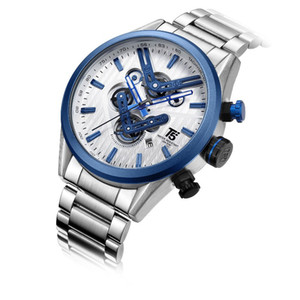 럭셔리 Ocysa 비즈니스 패션 망 기계식 자동 샘플 운동 tourbillon 손목 시계 스테인레스 스틸 시계 케이스 가죽 스타즈 시계