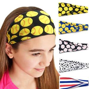 20style beisebol hairband Softball Sports Sweat Bola Headbands Yoga fitness Scarf Esporte Hairbow Mulheres Homens equipa de futebol Faixa de Cabelo GGA3404