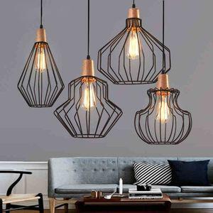 2020 American litp restaurant chandelier office Nordic industrial style birdcage creative bar iron bar retro chandelier