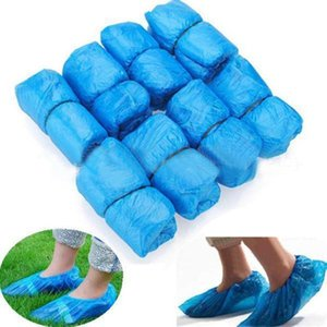100pcs lot Disposable Overshoes Shoe Care Kits Drop Shiping Shoe Covers Plastic Rain Waterproof Overshoes Boot Covers