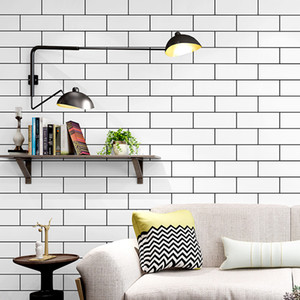 Black White brick design check Texture 3D Wave Wallpaper Vinyl Quality Modern Luxury Wall Paper Roll