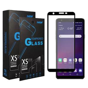Gehärtetes Glas für Moto G Stylus 2020 LG Stylo 6 K51 Aristo 4 Plus Samsung A51 A01 A71 Full Cover-Schirm-Schutz