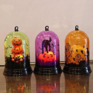Pumpkins Lamp bruxa Home Decor luzes LED Lanternas Partido Lamp Suprimentos Halloween Decor Haunted House Decor