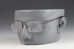 2019 best seller occhiali moda corno bufalo Cat Eye Mezza cornice in metallo anti-radiazioni occhiali in vetro pianura occhiali con scatola
