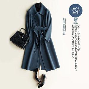 Winter Female Jacket Women Clothes 2020 100% Wool Coat+Belt Vintage Elegant Ladies Korean Coat Long Casaco Feminino 1621
