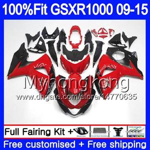 Впрыска для SUZUKI GSXR 1000 2009 2010 2011 2012 2014 2015 2016 302HM.42 GSX R1000 K9 завод Красный GSXR1000 09 10 11 12 13 15 16 обтекатель