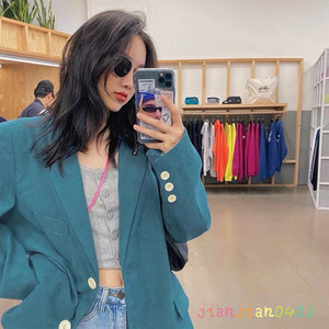 Quality new 2020 ladies suit jacket high-end temperament fashion simple elegant casual long sleeves 021
