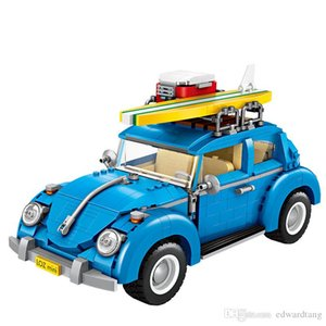Car Building Block Model Developmental Toys, DIY Caterham F1& Beetle Two-in-one, Kid' Birthday' Party Christmas Gift, Collecting, Decoration