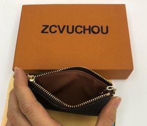 KEY ÇANTASı Damier tuval kaliteli ünlü klasik tasarımcı kadın tutucu bozuk para cüzdanı Deri erkek kart sahipleri cüzdan çanta tutan