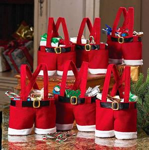 2020 Pantaloni Santa Claus Style Decorazione natalizia amante / Marry Christmas Gift Bag Natale caramella cerimonia nuziale del sacchetto Sostenere FBA Drop Shipping M829F