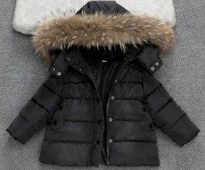 الأطفال البدلة الدافئة مقنع بنين معطف الشتاء الثلج أبلى القطن الأطفال الحراري الشتاء أبلى معطف أسفل ستر الياقة الفراء 4-13T